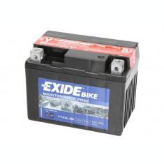 Baterie moto AGM fara intretinere EXIDE 12V 3Ah 50A R+ 113x70x85 Incarcare uscata cu acid