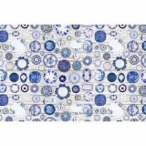 Cumpara ieftin Covor 80×200 cm, albastru/crem, PARLIN