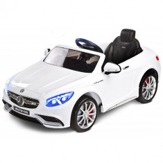 Vehicul Electric Mercedes-Benz S63 AMG 12V WHITE