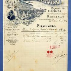 Th. Radivon - Factura piese jubiliare de aur Expozitia 1906