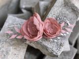 Accesoriu sarma placata cu argint margelute si flori LHNT001