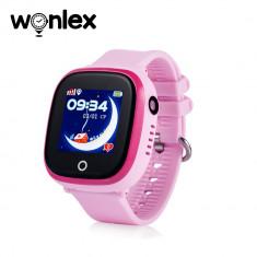 Ceas Smartwatch Pentru Copii Wonlex GW400X WiFi cu Functie Telefon, Localizare GPS, Camera, Pedometru, SOS, IP54 - Roz, Cartela SIM Cadou