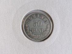 Romania 50bani 1873. Vf. argint foto