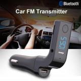 Modulator FM cu mufa USB si kit Bluetooth