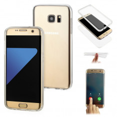 Husa Samsung S7 Edge Flippy Full Tpu 360 V2 Transparent, Carcasa