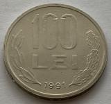 """100 Lei 1991 Romania, varianta """"99"""" cu codita rotunjita, RARA!, tip B"""