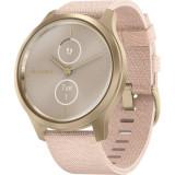 Ceas Smartwatch Garmin Vivomove Style, Champagne/Dust Rose, Otel inoxidabil, Rose Gold