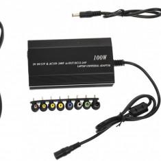 Incarcator universal laptop, auto 12V si priza 220V, 8 conectori si USB - 1051