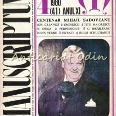 Manuscriptum. Revista Trimestriala - Nr.: 4/1980 * (41) Anul XI