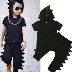 Costum baieti Black Dinosaurus