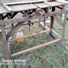 Masa abric+masa freza modelare lemn atasata