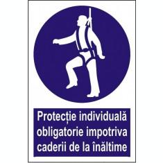 Indicator Protectie individuala obligatorie impotriva caderii de la inaltime - Semn Protectia Muncii