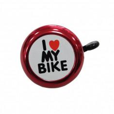 Sonerie Copii Annuo 45Ae 05 D54Mm I Love My Bike Aluminiu Rosie