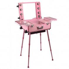 Statie profesionala de make-up cu picioare HL0006P, roz