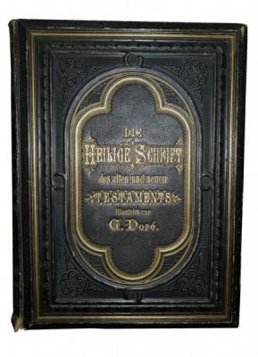 SFANTA SCRIPTURA, VECHIUL SI NOUL TESTAMENT tradus de MARTIN LUTHER si ilustrat de GUSTAVE DORE, 2 VOL. - STUTTGART, foto
