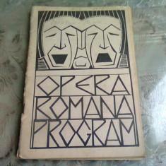 OPERA ROMANA PROGRAM STAGIUNEA 1929-1930