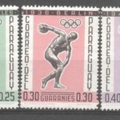 Paraguay 1962 Sport, Olympics, MNH M.323