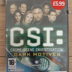 CSI:Crime Scene Investigation - Dark motives -  PC DVD-ROM sigilat