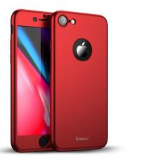 Husa Apple iPhone 8 IPAKY Full Cover 360 Rosu + Folie Cadou