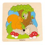 Puzzle Descopera Padurea Beleduc, multicolor, lemn