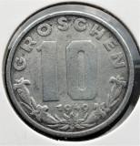 Austria 10 Groschen 1949 - transport gratuit, Europa, Zinc