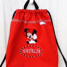 Saculet Brodat -  Minnie Mickey Happy Hug