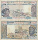 1985, 5.000 francs (P-708 Kj) - Senegal!