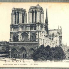 AD 105 C. P. VECHE - PARIS - NOTRE-DAME , VUE D'ENSEMBLE -FRANTA