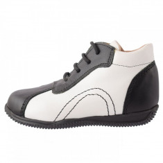 Pantofi copii, din piele naturala, Endican, 6616, negru
