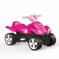 ATV cu pedale roz Unicorn, scaun spatios si confortabil, include claxon, 57 x 85.5 x 48 cm