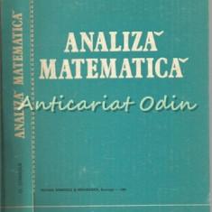 Analiza Matematica - O. Stanasila