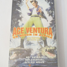 Caseta video VHS originala film tradus Ro - Ace Ventura un Nebun in Africa