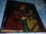 Icoana veche pictata pe lemn,icoana Mare cu uzura,pozele reflecta realitatea