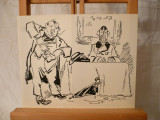Desen-Seful si subalternul-YOR (Petre Iorgulescu), Portrete, Cerneala, Impresionism