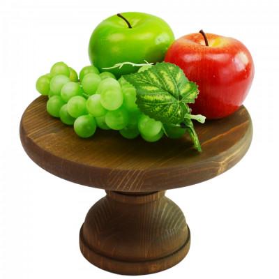 Suport din lemn pentru tort,prajituri,fructe 20x13 cm foto