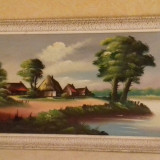 Tablou ,  pictură pe pânză ., Natura, Pastel, Altul