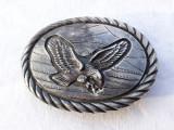 CATARAMA PAFTA argint VULTUR MASIVA superba NAVAJO AMERINDIDANA semnata TOM BAHE