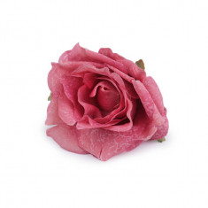 Trandafir artificial, diametru 70 mm, culoare roz