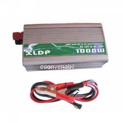 Invertoare Auto 1000W 12V la 220V Cablu cu Clesti foto