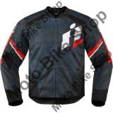 MBS Geaca textila Icon Overlord Primary, L, negru/rosu, Cod Produs: 28203649PE