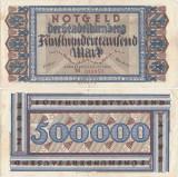 1923 (11 VIII), 500.000 mark (Keller 3970a) - Germania (Nürnberg)!