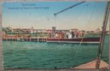 Techirghiol, debarcaderul si barca cu motor la sosire// CP