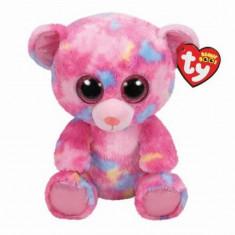 Jucarie de plus TY 24 cm Boos Franky - Ursulet roz