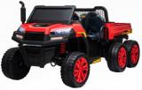 Cumpara ieftin Buggy electric cu bena pentru 2 copii Premier 4x4 Hygge Truck, 6 roti cauciuc EVA, scaun piele ecologica, rosu