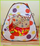 Cort de jucarie pentru copii cu 50 de bile colorate incluse