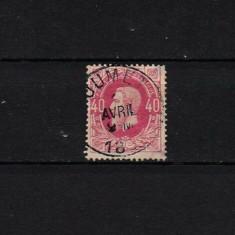 1869 Belgia King Leopold II #31 MLH B001, Stampilat