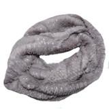 Cumpara ieftin Fular Ioda circular cu insertii de paiete,nuanta de gri