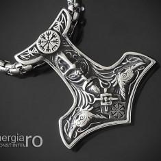 Pandant, Medalion, Pandantiv Ciocanul lui Thor INOX - cod PND151