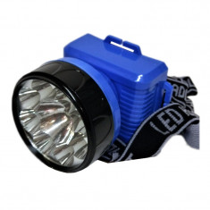 Lanterna frontala reglabila 687, 8 x LED foto