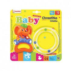 Set 2 Jucarii Zornaitoare pentru Bebelusi, Elefant si Cerc, Multicolor
